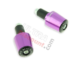 Embout de guidon Tuning violet (type7) pour pocket quad