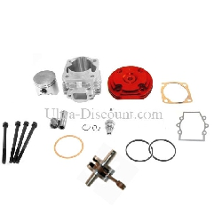 Kit 53cc 4 transferts + Vilebrequin Racing axe 10mm(typeB Rouge)